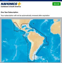 Sjökortsappar för Västindien