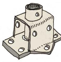 Konstruktion mantågstöttefötter