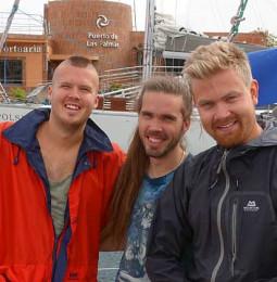 Långseglare vi mött: Allexis, Marcus och Johan på Amiga